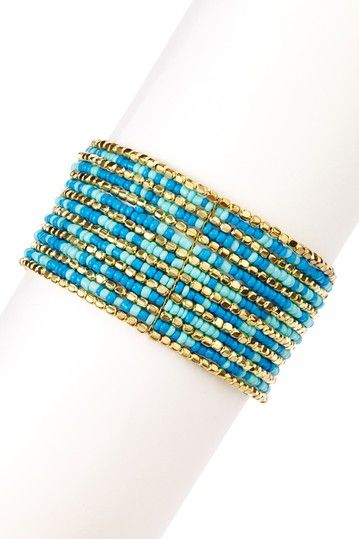 Beaded Cuff  by Olivia Welles on @HauteLook