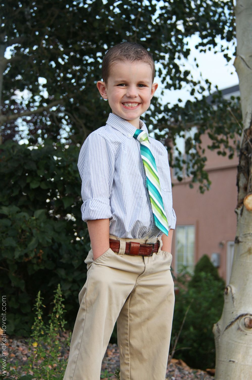 Re-purposing: Turn a Men's Tie into a Boy's Tie   Make It and Love It