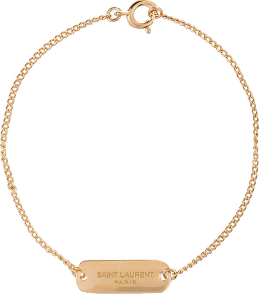 Saint Laurent Gold Baptism Bracelet SSENSE Shopping