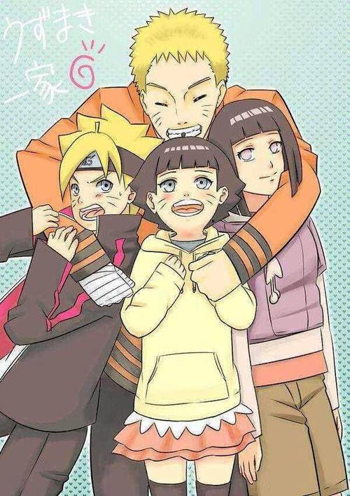 Hinata Hyuuga Naruto Uzumaki Boruto Uzumaki And Himawari Uzumaki
