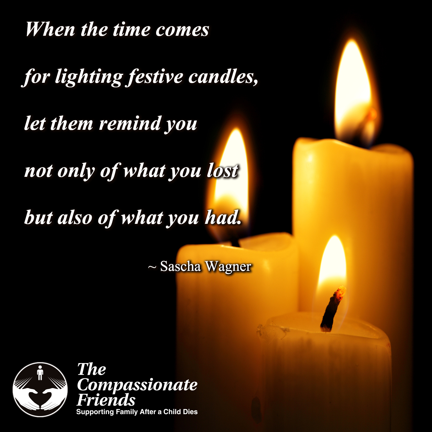 Worldwide candle lighting the compassionate friends providing