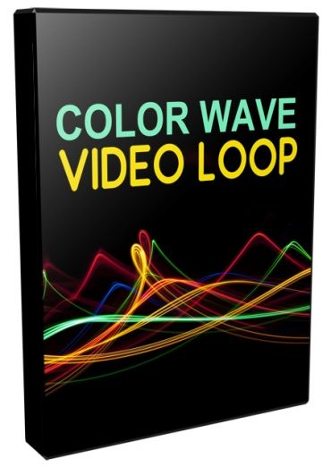 Color Wave Video Loops Pack - Video Series (Personal Use Rights)