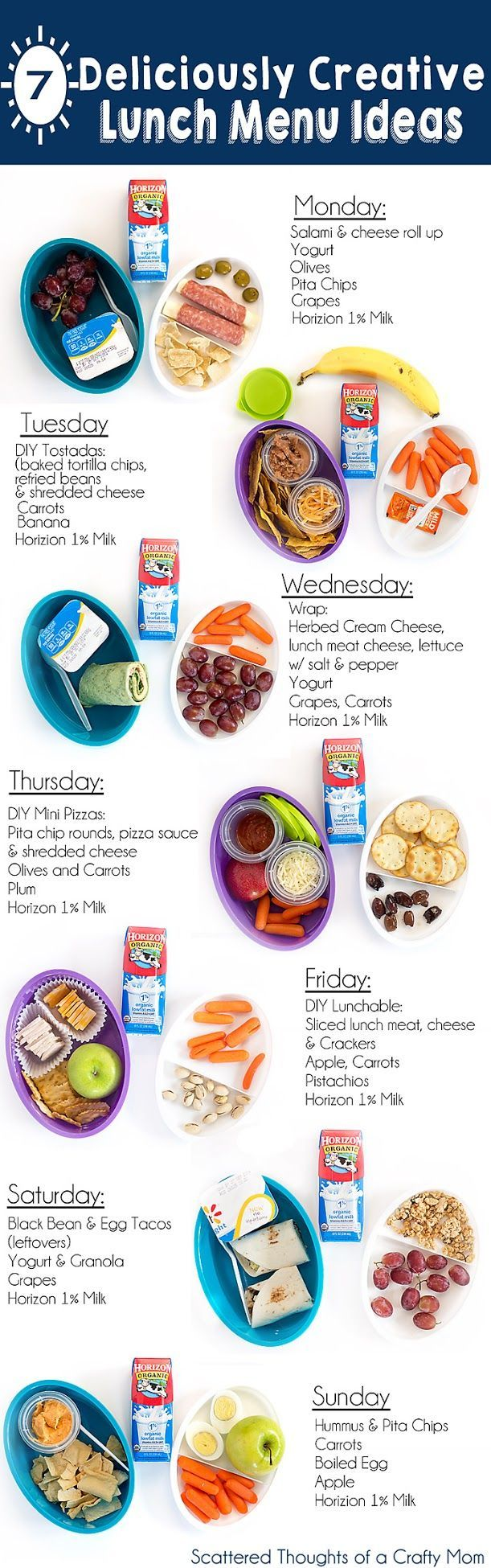 7+ Deliciously Creative Lunch Ideas for Kids | School Lunch ideas ...