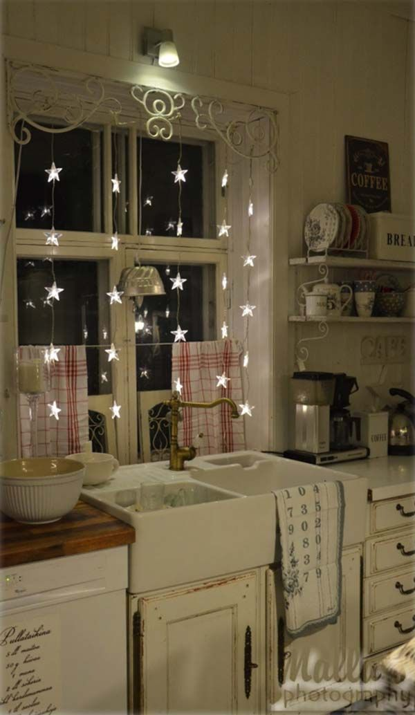 Great Ways For Lighting A Kitchen: 45 Inspiring Ways To Decorate Your Home With String Lights