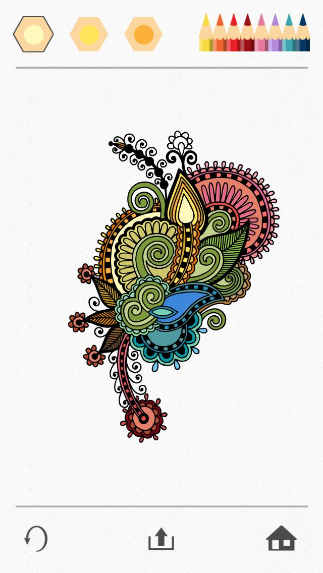 oriental Colorfy app, Adult coloring, Colorfy