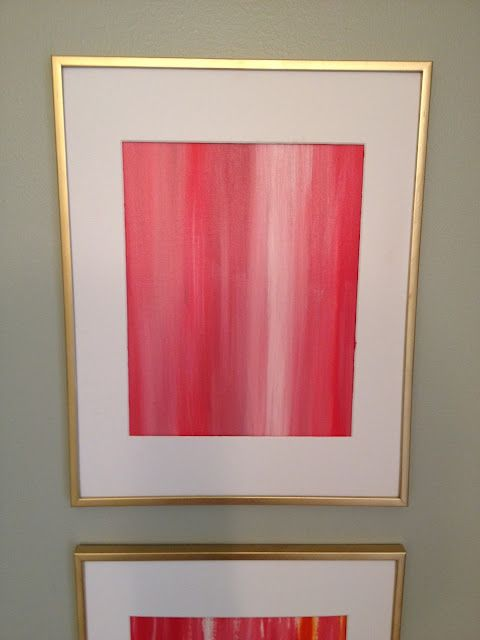 Paint a thin canvas and mount it in a gold frame with matting for a ...