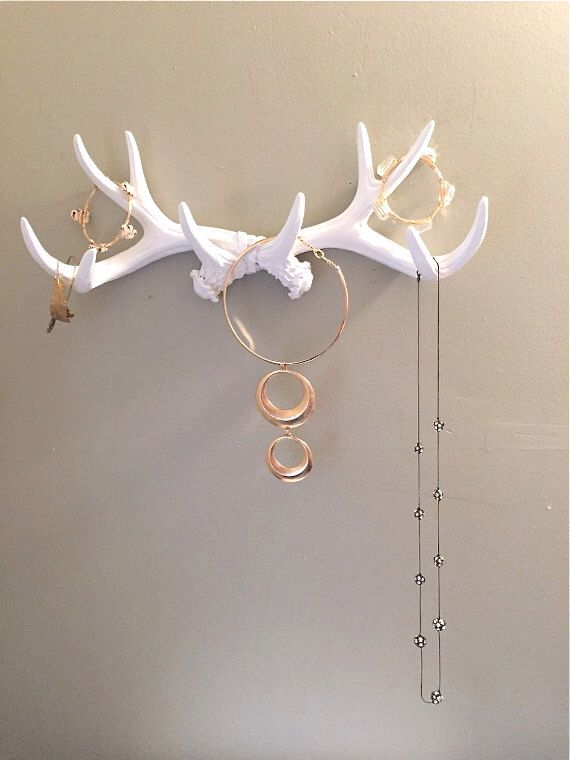 PICK YOUR COLOR faux antler jewelry holder antler jewelry organizer