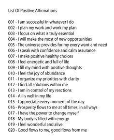 Mdc Success Line Affirmations Positive Affirmations Success Affirmations
