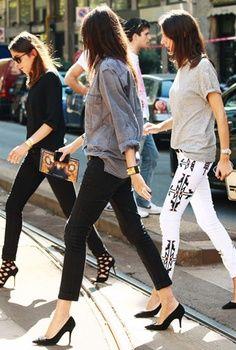 Pinspiration: 5 façons de porter les escarpins noirs - Conseils mode - Mode - Home - ELLE Belgique