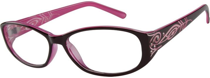 Purple Oval Glasses 269517 Zenni Optical Eyeglasses
