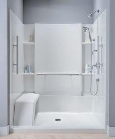 Sterling Shower Stalls Like A Part Of Kohler Products Bathroom