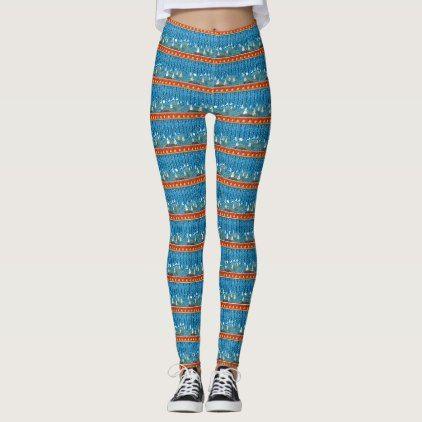 Magic Christmas background Leggings - patterns pattern special unique design gift idea diy