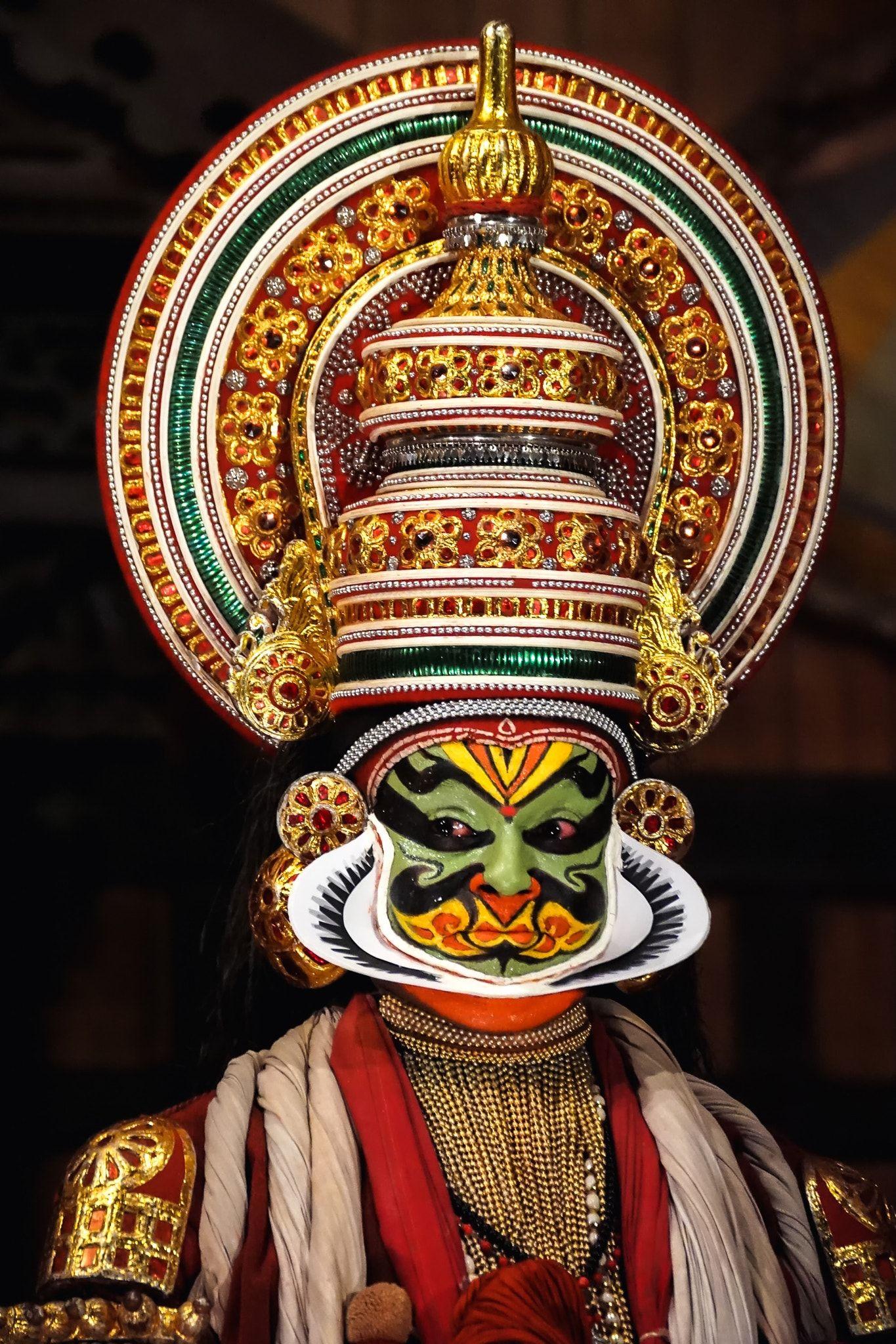 Kathakali perfomer - Portrait of the unidentified kathakali