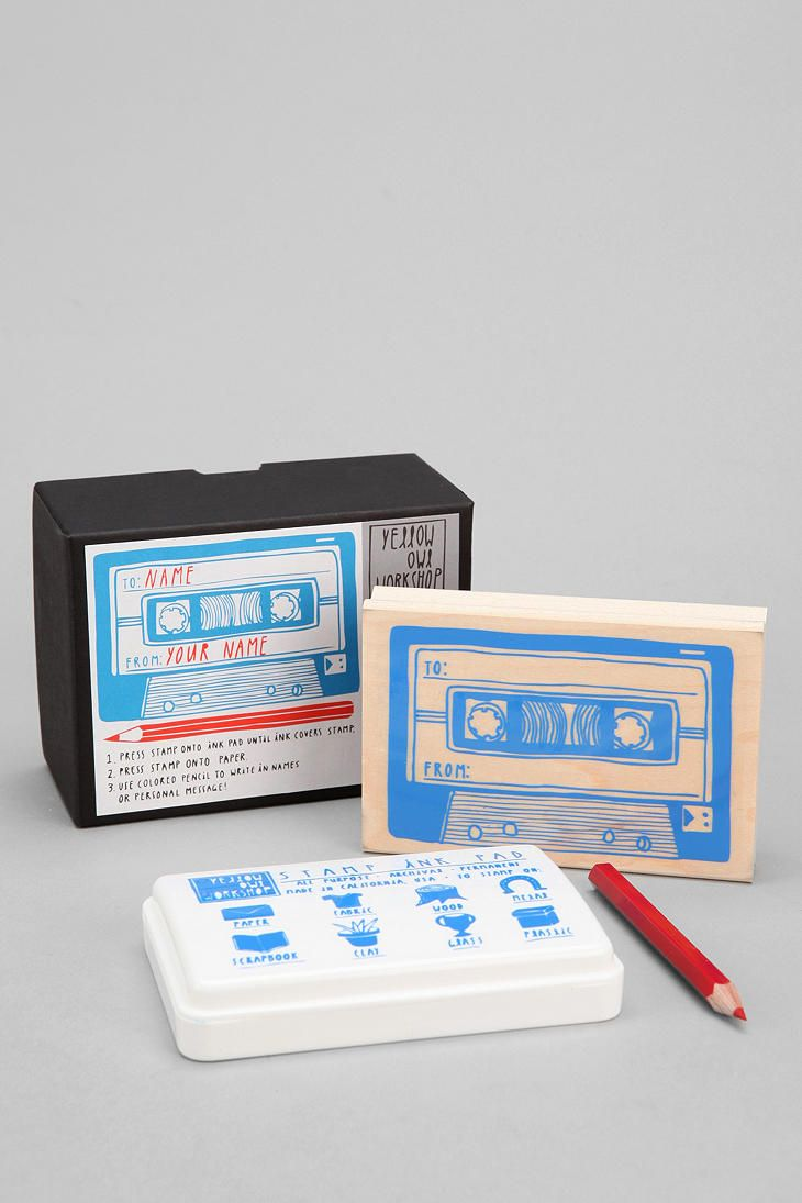 Mix Tape Rubber Stamp   Journals and Paper ideas   Stamp