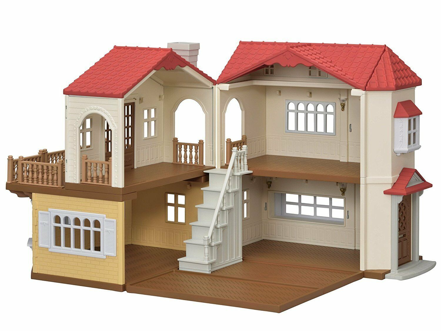 Sylvanian Families Calico Critters ' Red roof big house ...