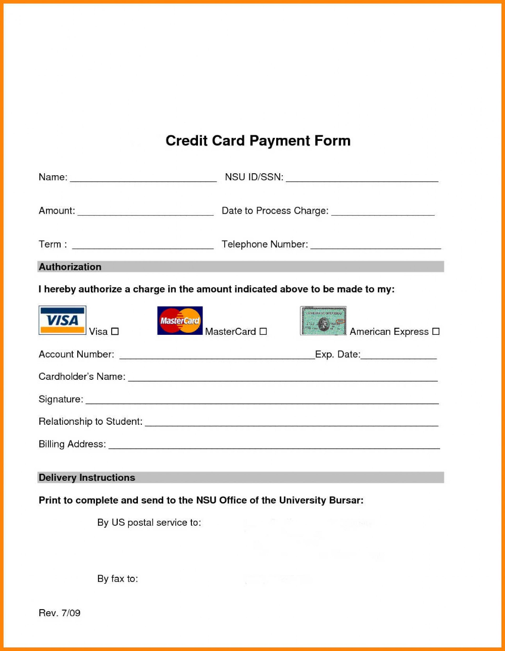 Hilton Credit Card Authorization Form Template Pdf Unbelievable With Regard To Credit Card Payment Form Template Card Template Credit Card Credit Card Payment
