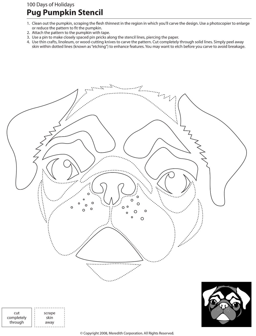 22 Free Pumpkin Carving Dog Stencils (Breed Specific) #pumpkincarvingstencils