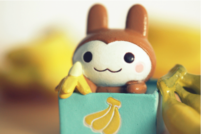 This very cute and kawaii monkey like character is called Usaru-San! Usaru-San has a website,http://www.usaru.jp, the website is mostly written in Japanese but is still has an adorable layout and is fun to browse even you can't read Japanese!