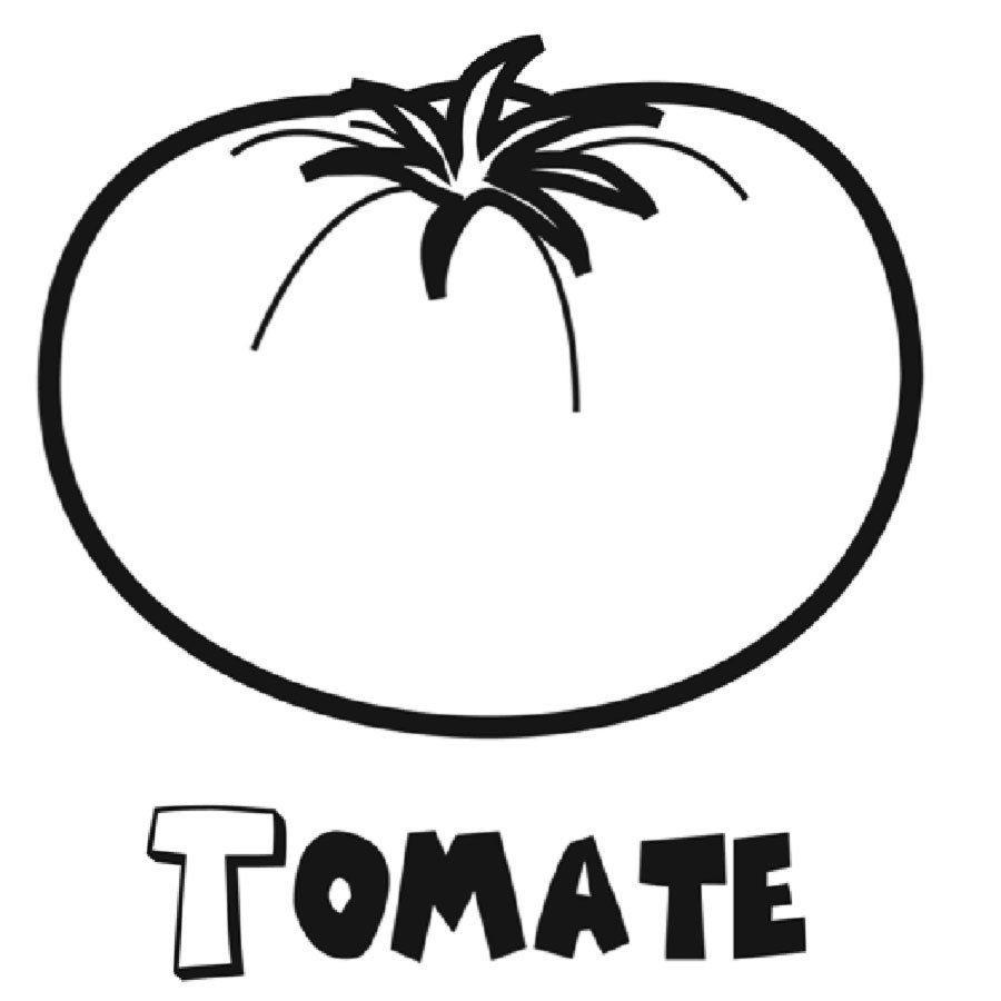 Dibujo Con Un Tomate Para Imprimir Y Colorear Tomates Dibujo Verduras Dibujo Verduras