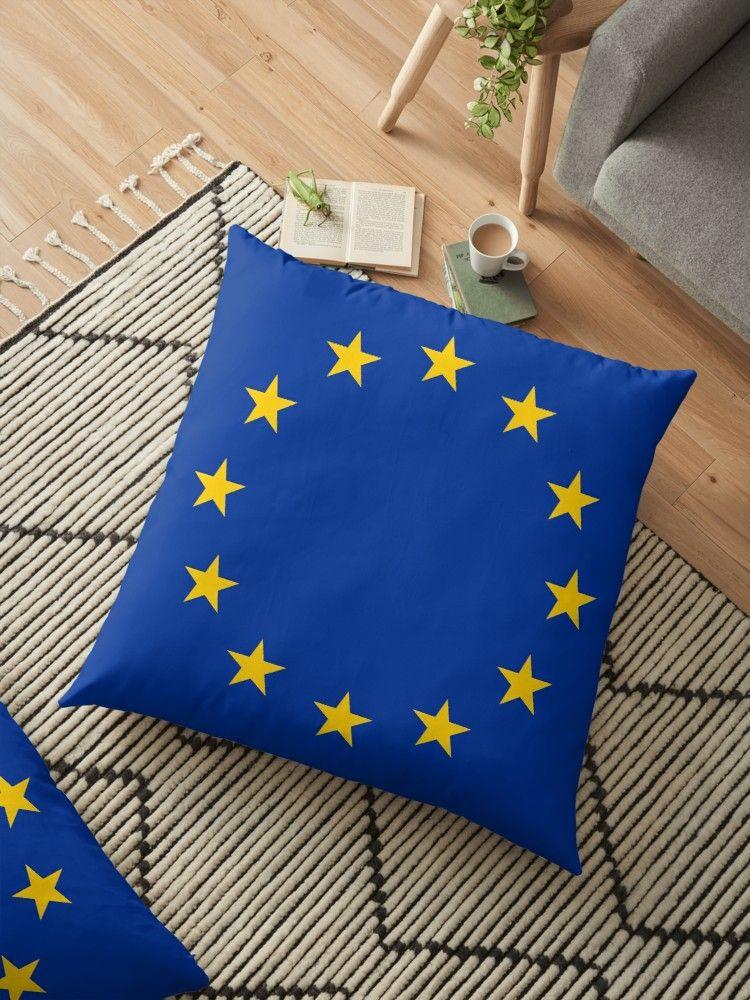 European Union Eu Flag Floor Pillow By Argosdesigns Pillows Floor Pillows European Home Decor