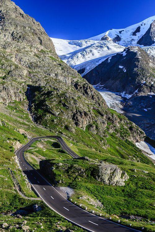 Sustenpass - drive from Lugano to Interlaken, Switzerland.