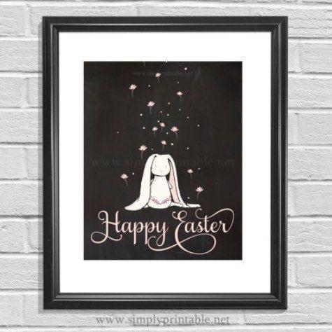 Printable Easter Bunny sign