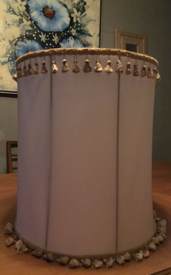 Extra Tall Drum Lamp Shade 19 Inches By Variouscommodity On Etsy