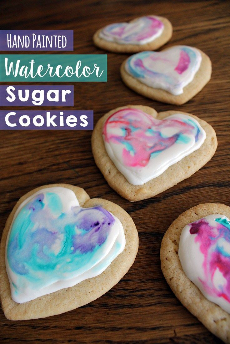 How To Paint Sugar Cookies With Gel Food Coloring Watercolor This Is A Fun Activity For Kids Make As Homemade Gifts