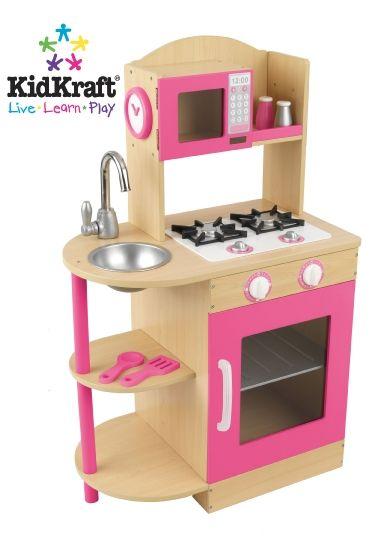KidKraft Girls Pink Wooden Toy Play Kitchen KidKraft 53195 ...