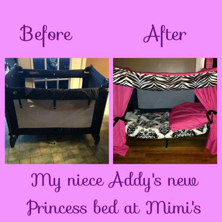 Turn Your Old Baby Playpen Into A Princess Bed I Love
