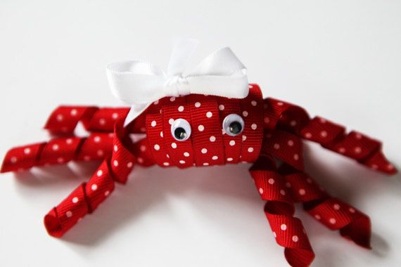 Crab hair clip by littledaintythings on Etsy, $7.00