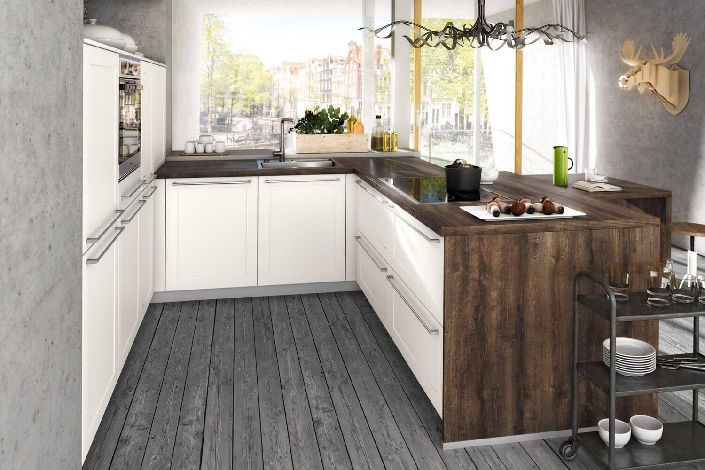 Holzdielen in der küche  Küche mit Holzboden: 9 Bilder & Ideen von Küchen mit Parkett und ...