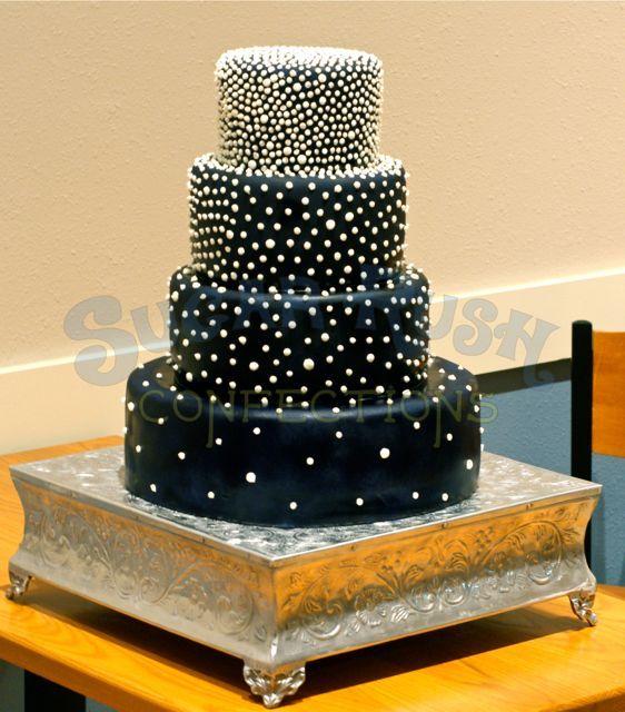 Midnight Blue Wedding Decorations: Midnight Blue Wedding Cake
