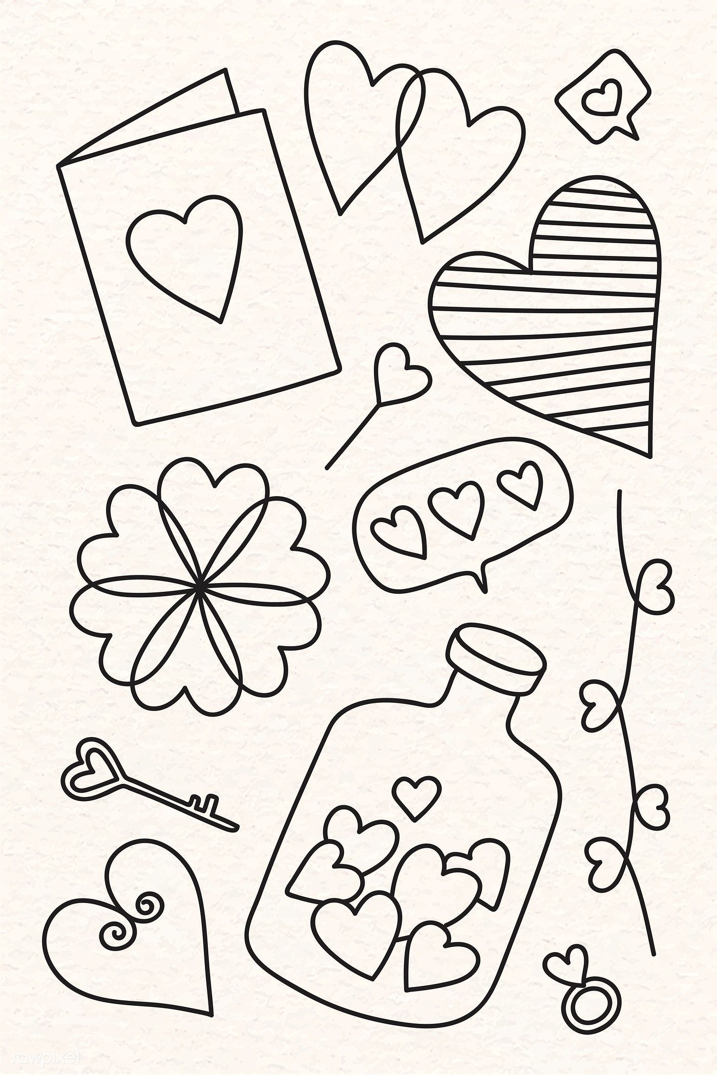 Download Premium Vector Of Hand Drawn Love And Valentine S Day Doodle Valentines Day Drawing Valentines Day Doodles Love Doodles