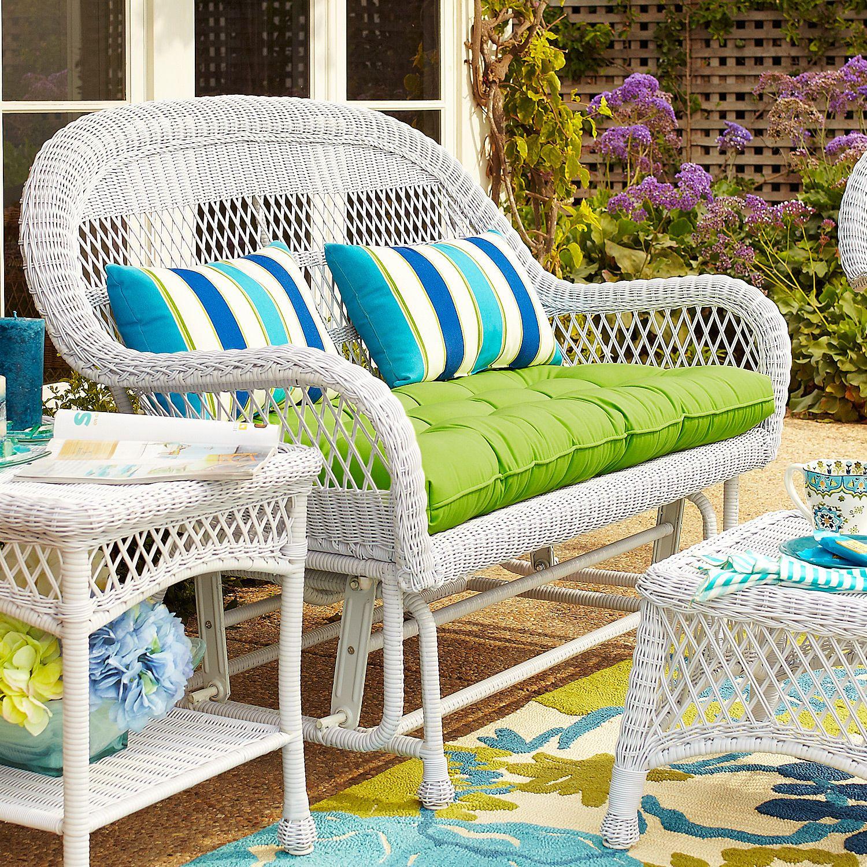 Santa Barbara Settee Glider White Outdoor sofa
