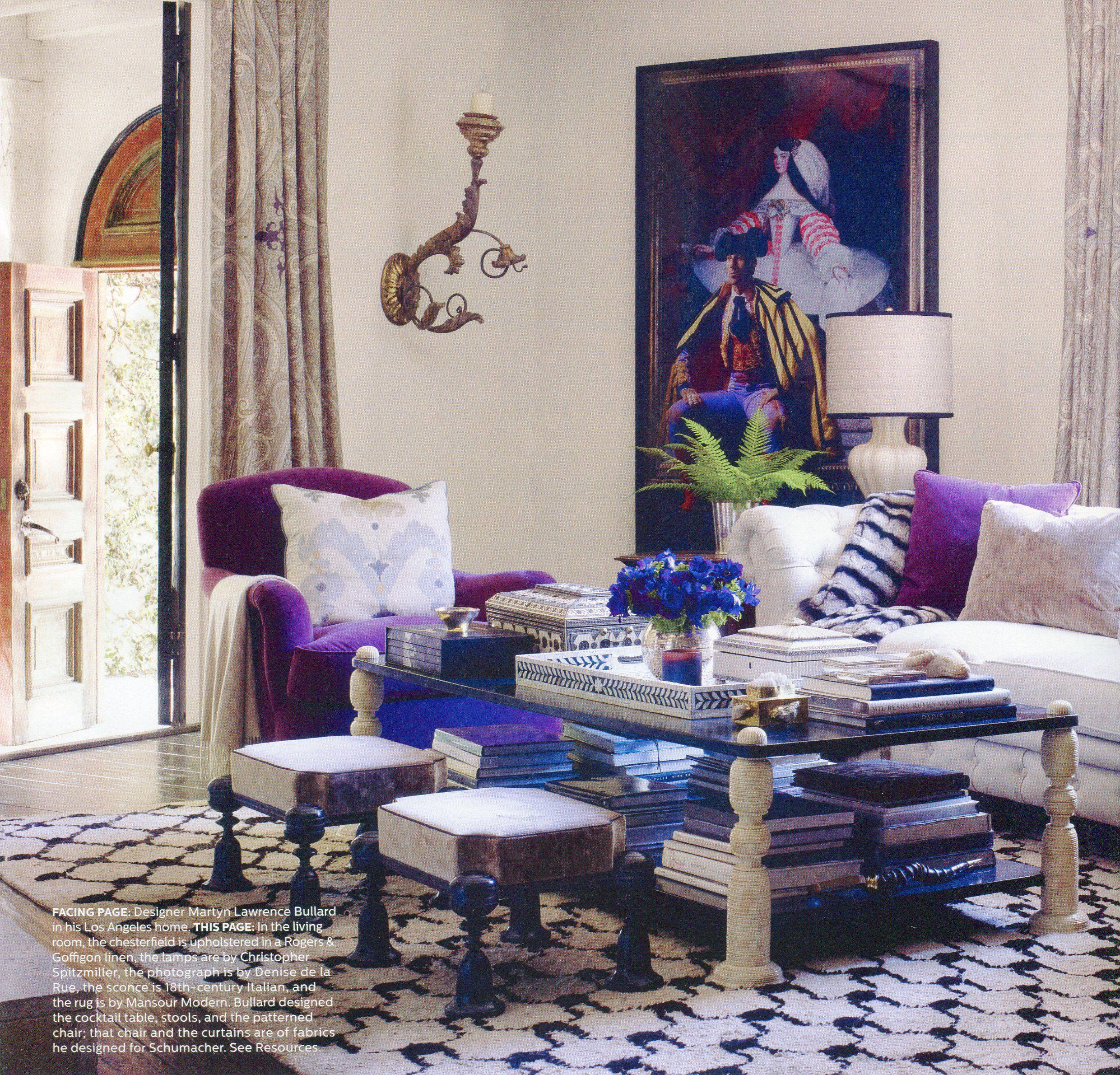 Living Room with beautiful purple | Elegant home decor ...
