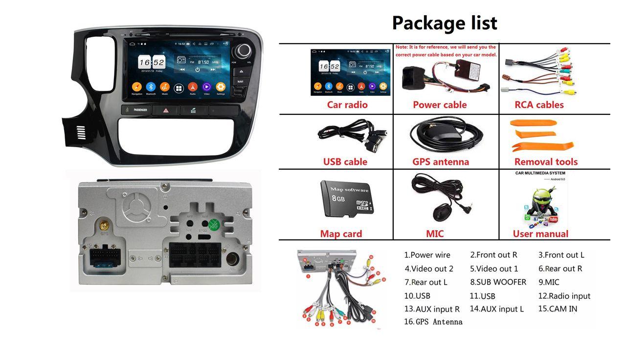 9/'/' Android Car Radio GPS Navigation Multimedia System For Mitsubishi Outlander