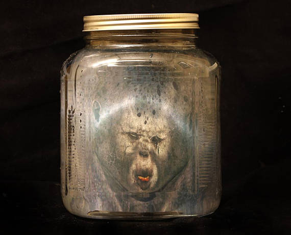Troll Boy Head in a Jar Halloween Prank Head in a Bottle Best - scary halloween props