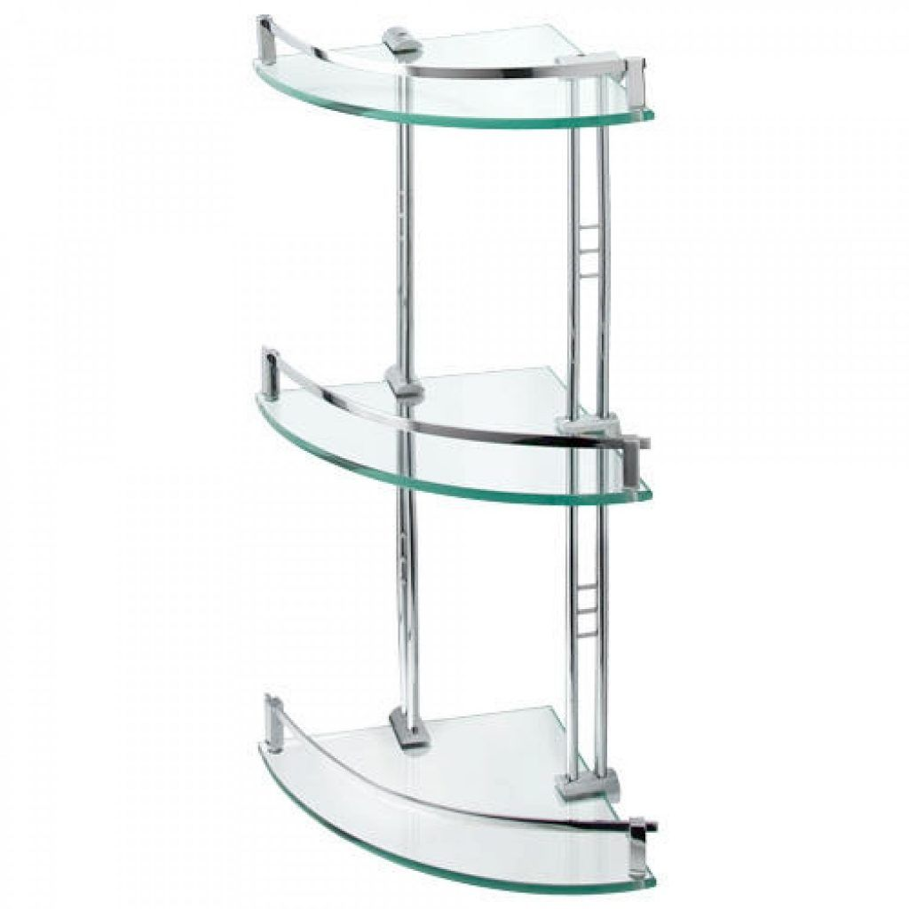 Bathroom Corner Shelf Engel Tempered Glass Corner Shelf Three Shelves Bathroom Glass Corner Shelves Shower Shelves Glass Shelves Kitchen