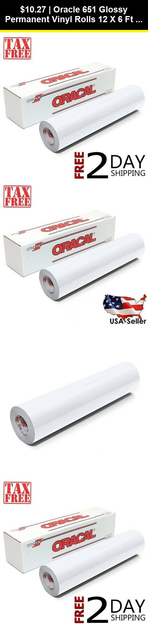 Scrapbooking And Paper Crafts 11788 Oracle 651 Glossy Permanent Vinyl Rolls 12 X 6 Ft R White Permanent Adhesive Buy It N With Images Permanent Vinyl Vinyl Vinyl Rolls