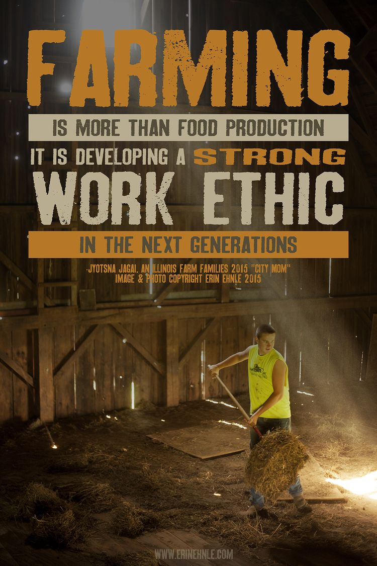 work ethic other how to work and to work farm work ethic erin ehnle