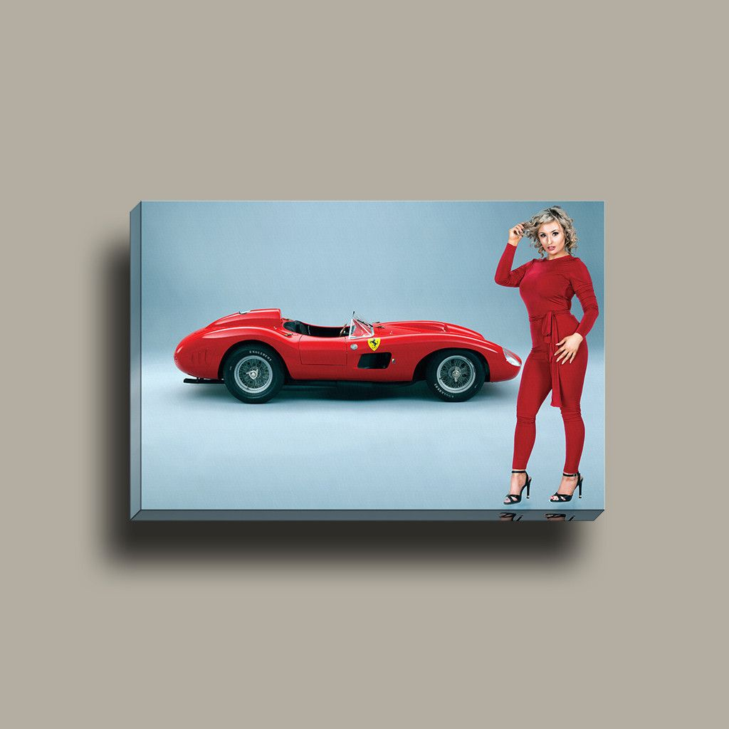 So Cool Wall Art Ferrari S With Model Mirror Wrap Canvas - Cool wall cars