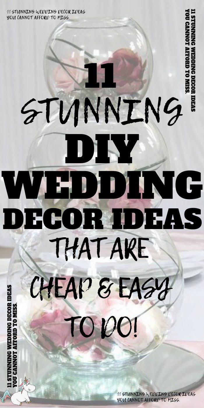 DIY Wedding Decor Ideas You Need To See! | The Mummy Front #weddingonabudget