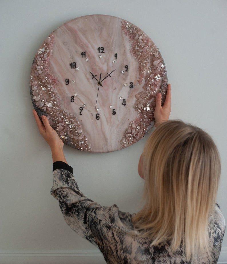 Photo of 20″ Epoxy Watch – Housewarming Gift – Farmhouse Wall Clock – Art Deco – Home Decor – Wall Decor – Unique Wall Clock – Large Wall Clock