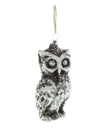 Look what I found on #zulily! Homer Glass Owl Ornament #zulilyfinds