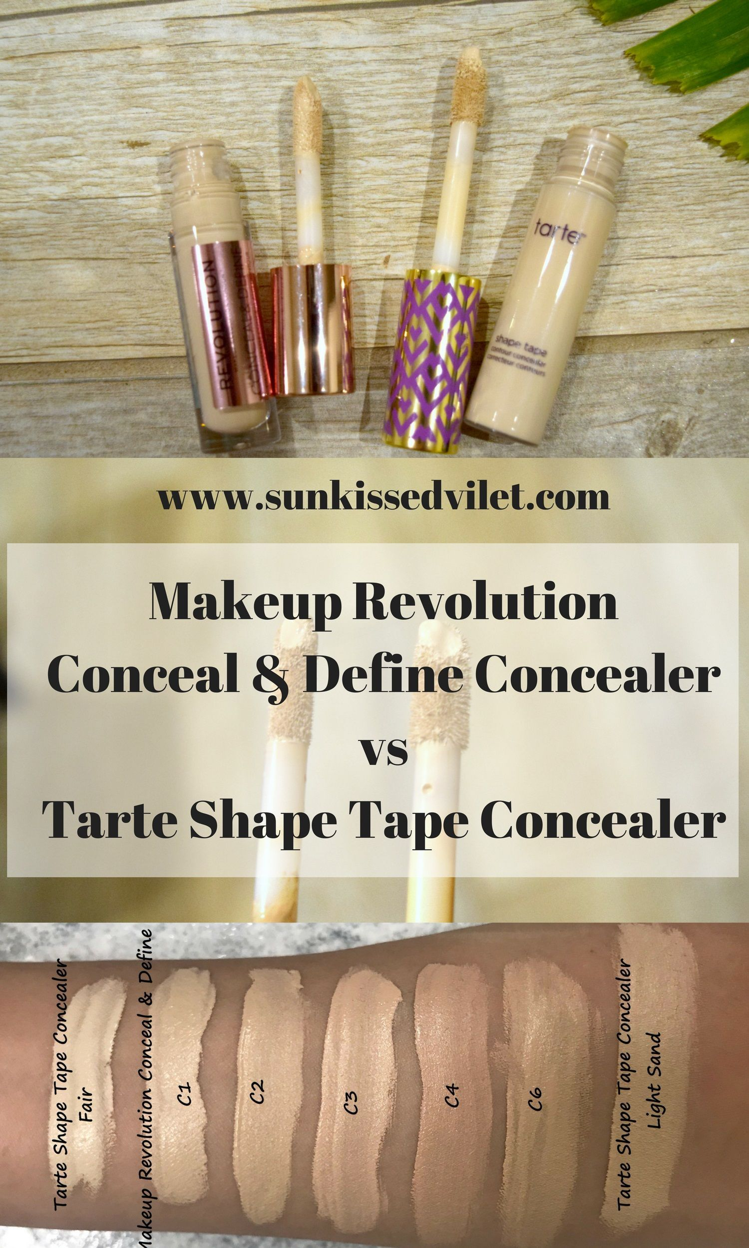 tarte shape tape dupe beauty pinterest makeup revolution swatch and makeup. Black Bedroom Furniture Sets. Home Design Ideas