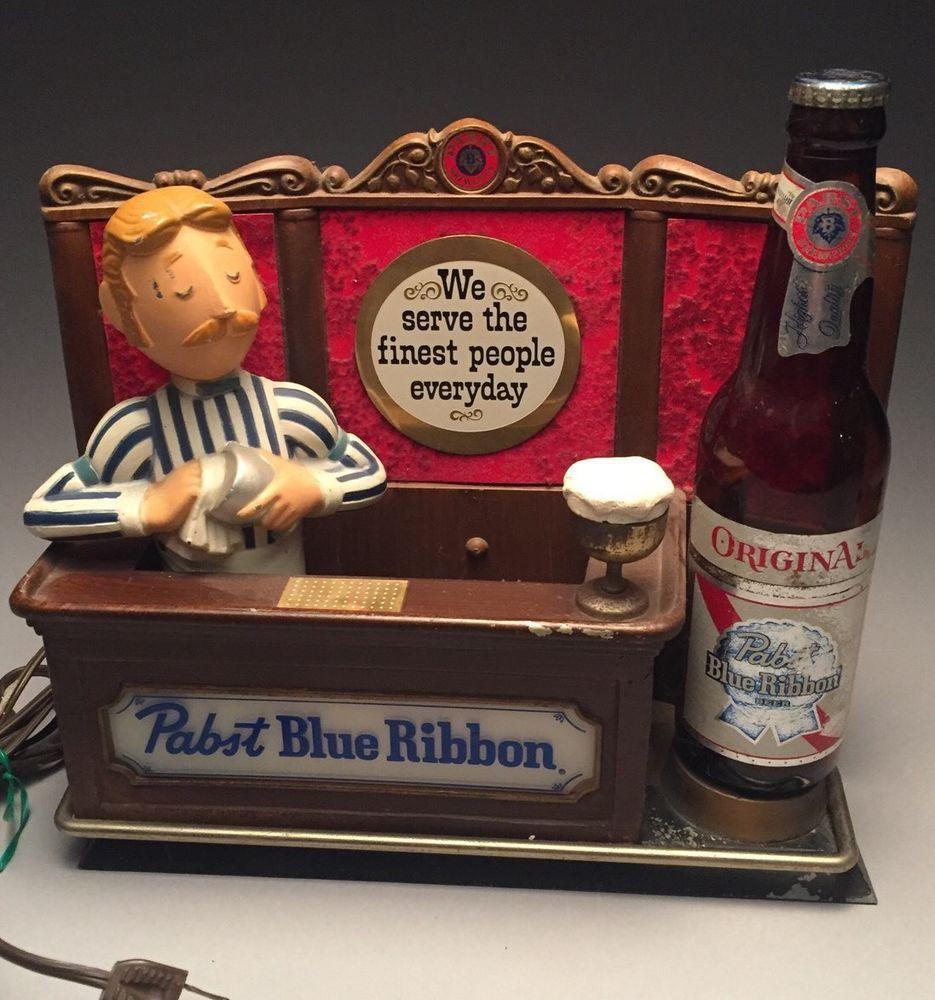 Details about Vintage Pabst Blue Ribbon 1940s PBR Lighted ...