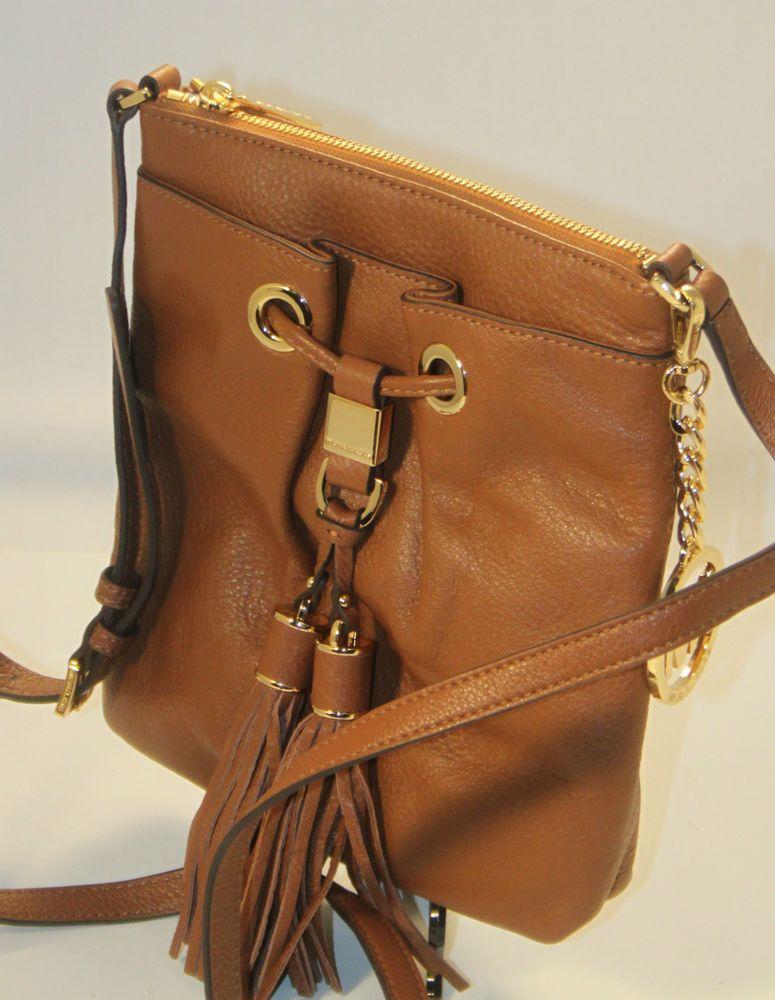 0f8ee25b58e5b4 NEW Michael Kors Brown Camden Leather Luggage Crossbody Purse 32S4GMDC8L # MichaelKors #MessengerCrossBody
