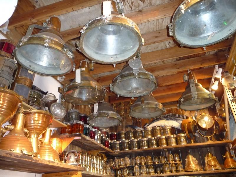 Large Vintage Ship Lights