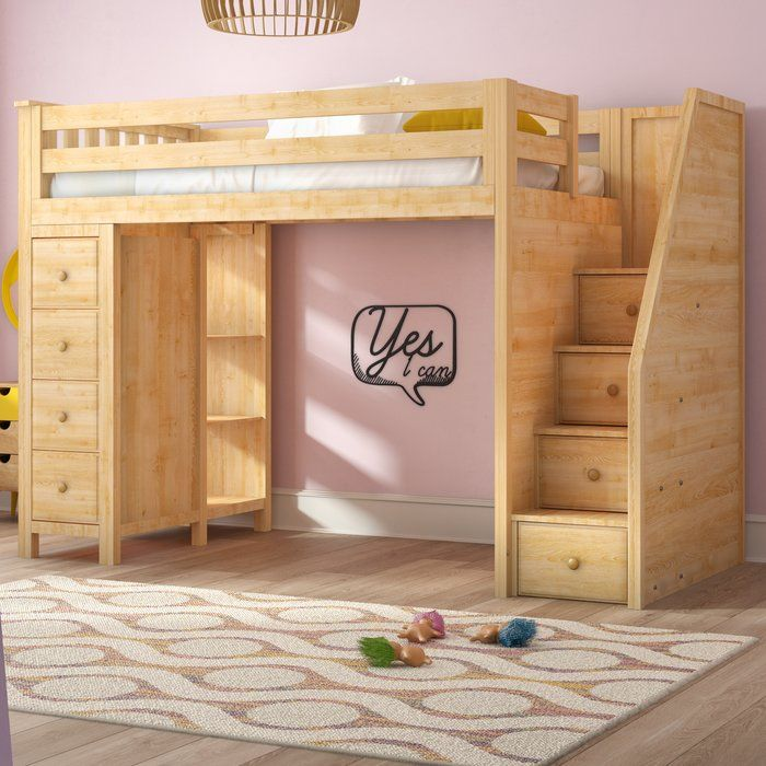 Ayres Twin Wood Loft Bed With Staircase In 2019 Rrrv